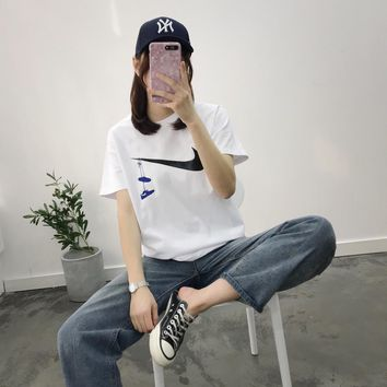 KUYOU   NIKE 2019 spring/summer new couple short-sleeved T-shirt