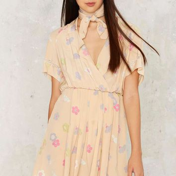 Vintage Chloé Silk Floral Dress