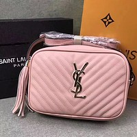 YSL Women Leather Shoulder Bag Crossbody Satchel