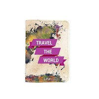 Travel The World World Map Customized Cute Leather Passport Holder - Passport Covers - Passport Wallet_SUPERTRAMPshop