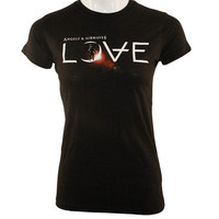 Angels and Airwaves LOVE Girls T-Shirt Black