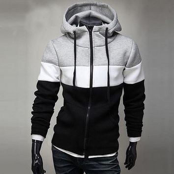Mens Three Color Zip-Up Hoodie