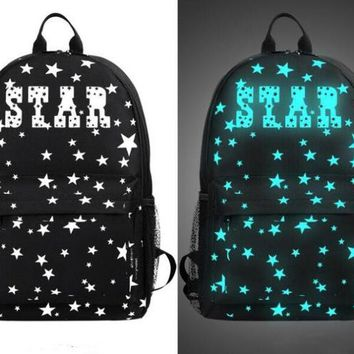Student Backpack Children Reether Glow In The Dark School Backpack Computer Bag Luminous Notebook Backpack College Student Backpack Festival Party Bag AT_49_3
