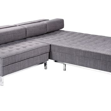 Flip Flop Sofa Bed With Ottoman Light Grey