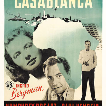 Casablanca (Swedish) 11x17 Movie Poster (1942)