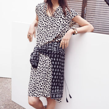 Morningside Shift Dress In Leopard Sketch (Madewell)