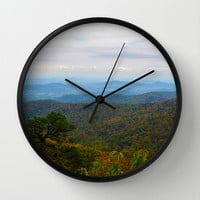 Skyline Drive Wall Clock by Mary Andrews