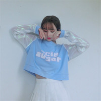 Acid Sugar Pullover With Iridescent Sleeves