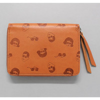 Oohlala funny illustration tabom classic zip around half wallet