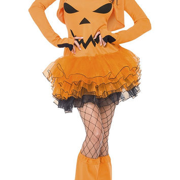 Long Sleeve Festive Pumpkin Costume Set