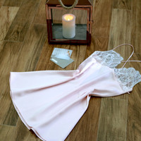 Silk and Lace Camisole /Luxury Lingerie/Honeymoon Lingerie/Babydoll Nightie/Sexy Lingerie/Short Night Gown