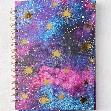 Galaxy Spiral-Bound Notebook | Urban Outfitters