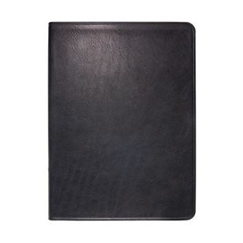 8 Inch Lined Soft Cover Journal  Traditional Leather - Black
