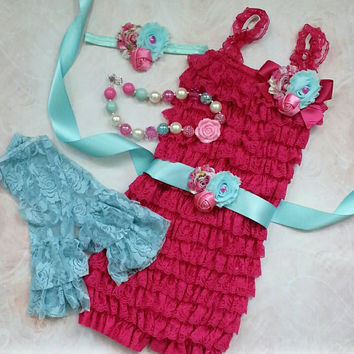 Lace Romper Set, Smash Cake Outfit, Petti Lace Romper Set, Lace Romper Outfit, Photo Prop, Newborn Outfit Birthday Outfit