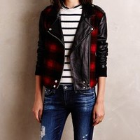 Paige Shelley Moto Jacket in Red Motif Size: