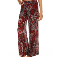 Sale Paisley Wide Leg Chiffon Pants