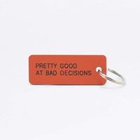 Various Projects Bad Decisions Orange Keyring - Urban Outfitters