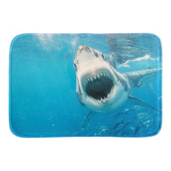 Autumn Fall welcome door mat doormat Underwater Scenery s White Shark Decor s Soft Lightness Indoor Outs Mats For Couples Short Plush Fabric AT_76_7