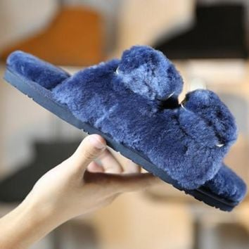 """UGG"" Women Fashion Wool Slipper Shoes"