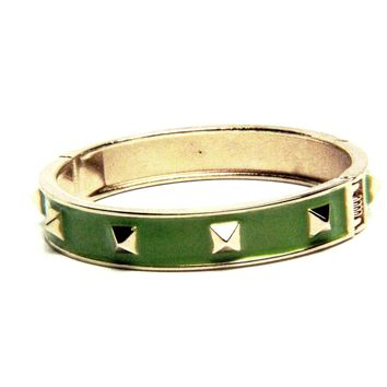 Spike Enamel Bangle Bracelet