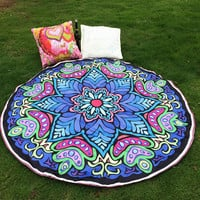 Drop Shipping  Hippie Round Mandala Tapestry Indian Wall Hanging Blanket Boho Beach Throw Towel Yoga Mat Home Room Decoration