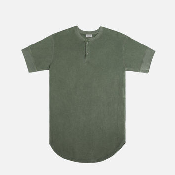 SS Flatback Thermal Henley / Olive