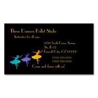 Three Dancers Double-Sided Standard Business Cards (Pack Of 100)
