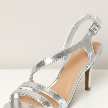 Low Strappy Heel Silver