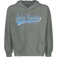 Johns Hopkins Blue Jays Youth All-American Primary Pullover Hoodie - Gunmetal - http://www.shareasale.com/m-pr.cfm?merchantID=7124&userID=1042934&productID=543381975 / Johns Hopkins Blue Jays