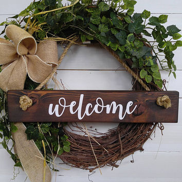 Front Door Signs - Hanging Porch Sign - Welcome Porch Sign - Welcome Front Door Sign - Hanging Front Door Sign - Entry Sign -Porch Door Sign
