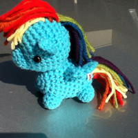 Rainbow Dash My Little Pony crocheted plush