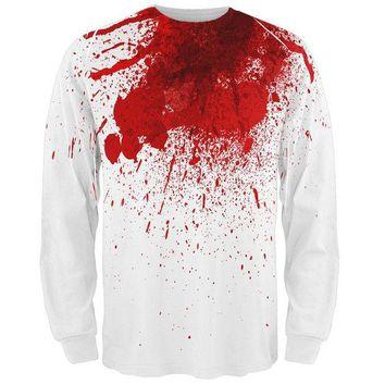 DCCKU3R Halloween Decapitated Costume All Over Adult Long Sleeve T-Shirt