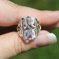 Cut Out Monogram Ring   monogrammed, personalized, monogram cut out ring