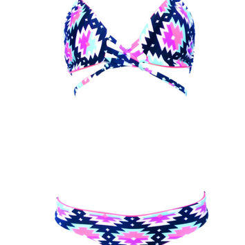 Electric Aztec Bikini Set- Choose Your Size for Top and Bottoms Available in Brazilia or Thong