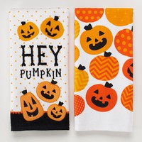 Halloween ''Hey Pumpkin'' 2-pk. Kitchen Towels