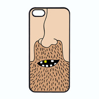 Cartoon iPhone 5 Cover - the Hippie - Black Hard Plastic Case