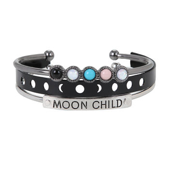 Moon Child Cuff Bracelet Set