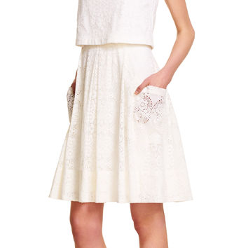 Medallion Lace Popover Dress - Adrianna Papell