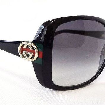 DCCK GUCCI Stylish Women Men Stripe Letter Sun Sunglasses I
