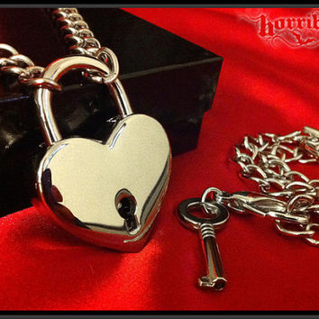 Silver Heart Padlock Necklace & Key Bracelet Set, Lock and Key Necklace, Lock Necklace, Lovers Necklace, 50 Shades of Gray