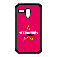Celebrity Hater Black Hard Plastic Case for Moto G by Chargrilled