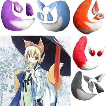 Takerlama Anime Spice and Wolf Holo Fox Kamisama Kiss Kamisama Hajimemashita Plush Tail Ears Cosplay Prop