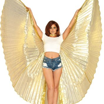 Metallic Pleated Wings 360 Degrees Halloween Effects