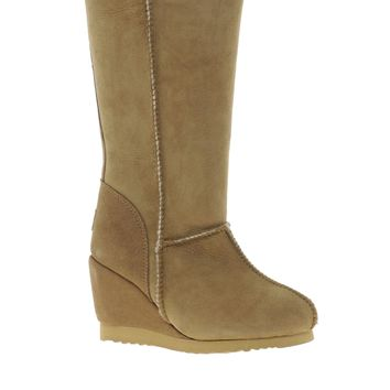 Love From Australia Zip Tall Wedge Boots