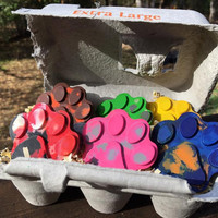 Paw Patrol Swirl Crayon PARTY FAVORS 5 Sets // Crayon Goodie Bags // Stocking Stuffer // Upcycled Crayon Gift // Dog Themed Birthday