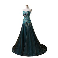 New Peacock Long Dress Popular Evening Dress for Women Party 2015