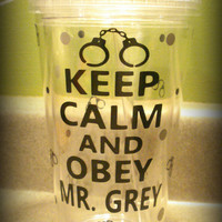 Keep Calm and Obey Mr. Grey Personalized Tumbler