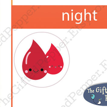 Period stickers [Printable]. Menstruation / menstrual / blood stickers. Erin Condren planner stickers, printable calendar stickers