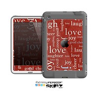 The Joy & Love WordCloud Wallpaper Skin for the Apple iPad Mini LifeProof Case