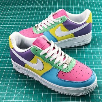 Nike Air Force 1 Low Easter Colorful Cream Fashion Shoes - Sale